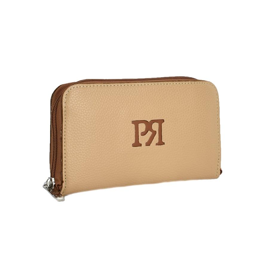 Μπεζ eco-leather πορτοφόλι Pierro Accessories 00022