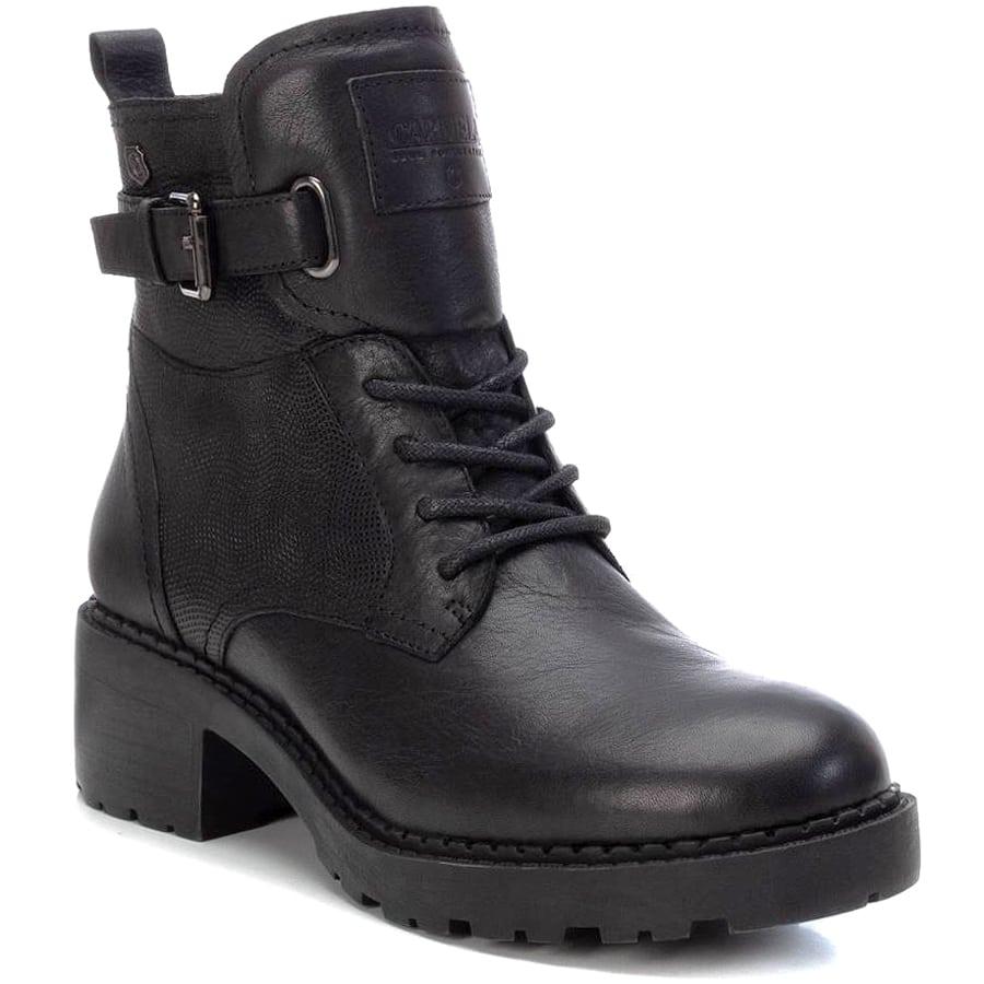 Δερμάτινο μαύρο biker boot Carmela 67908