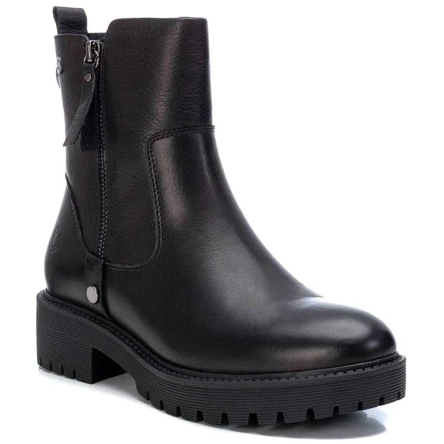 Δερμάτινο μαύρο biker boot Carmela 67972