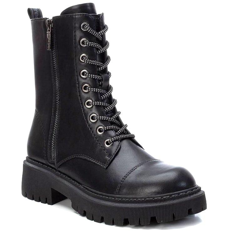 Mαύρο biker boot Refresh 76020