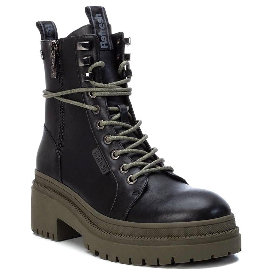Μαύρο biker boot Refresh 77891
