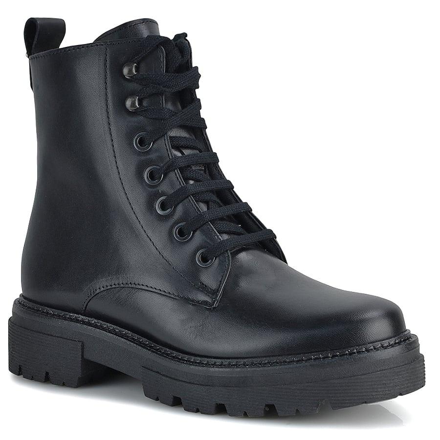 Δερμάτινο μαύρο biker boot Pitillos 1120