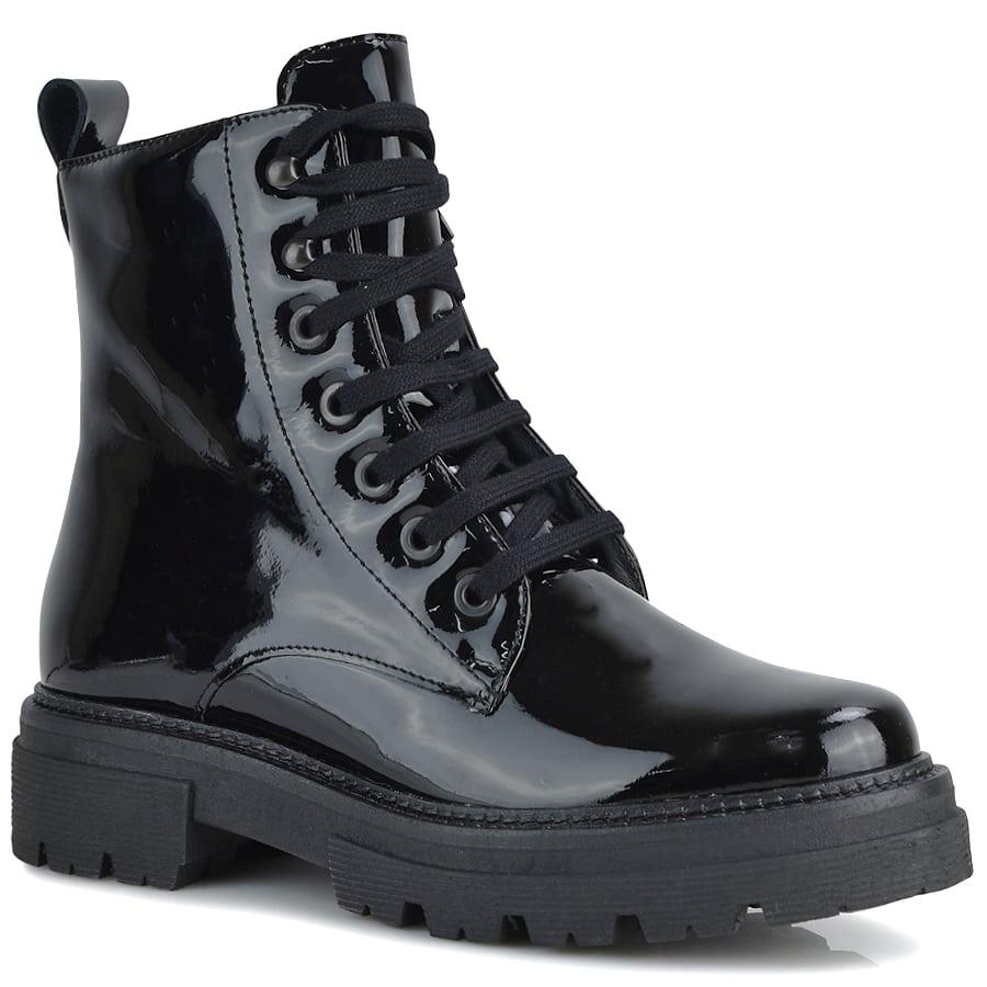 Δερμάτινο μαύρο biker boot Pitillos 1121