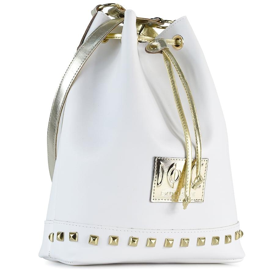 Λευκή τσάντα πουγκί Dolce 218003