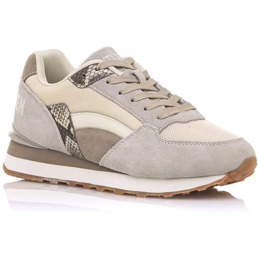 Δερμάτινο μπεζ sneaker SIXTYSEVEN 30735