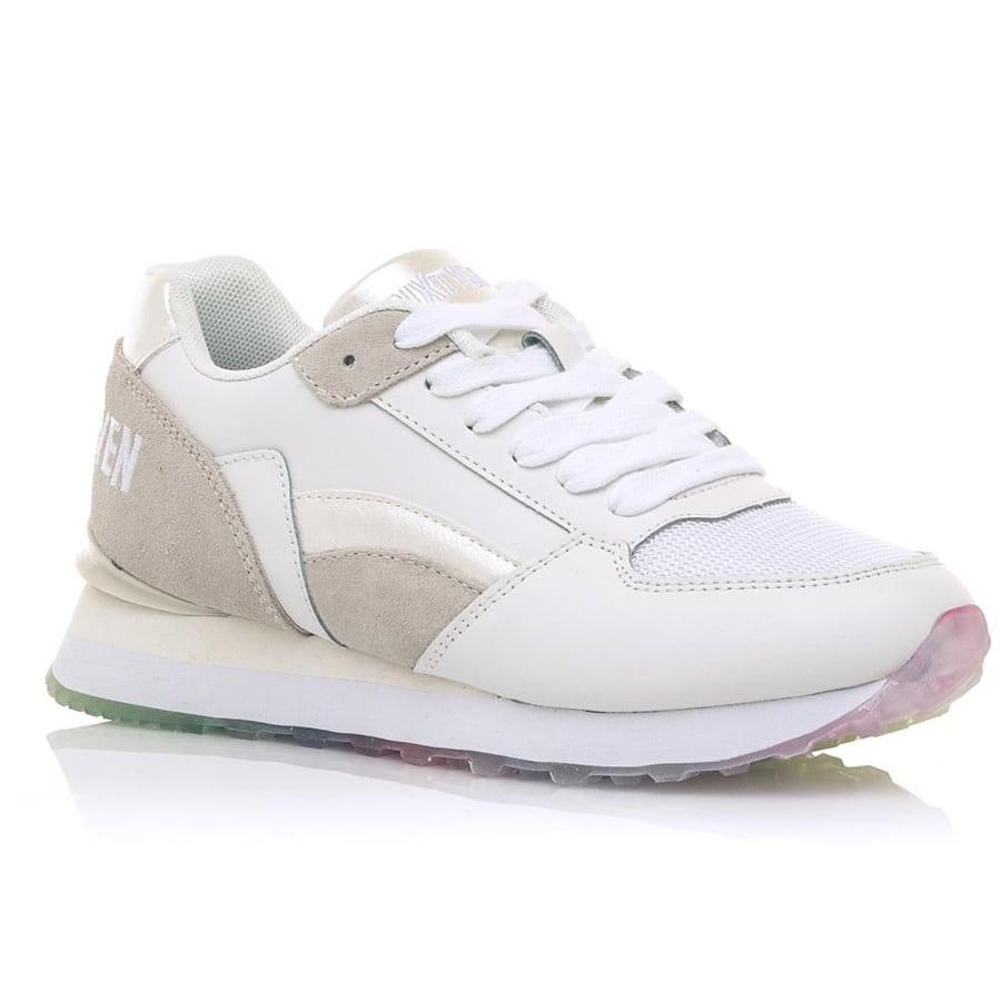 Δερμάτινο λευκό sneaker SIXTYSEVEN 30735