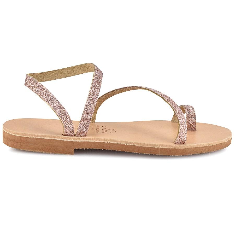 Δερμάτινο ροζ σανδάλι με glitter Iris Sandals IR4/46