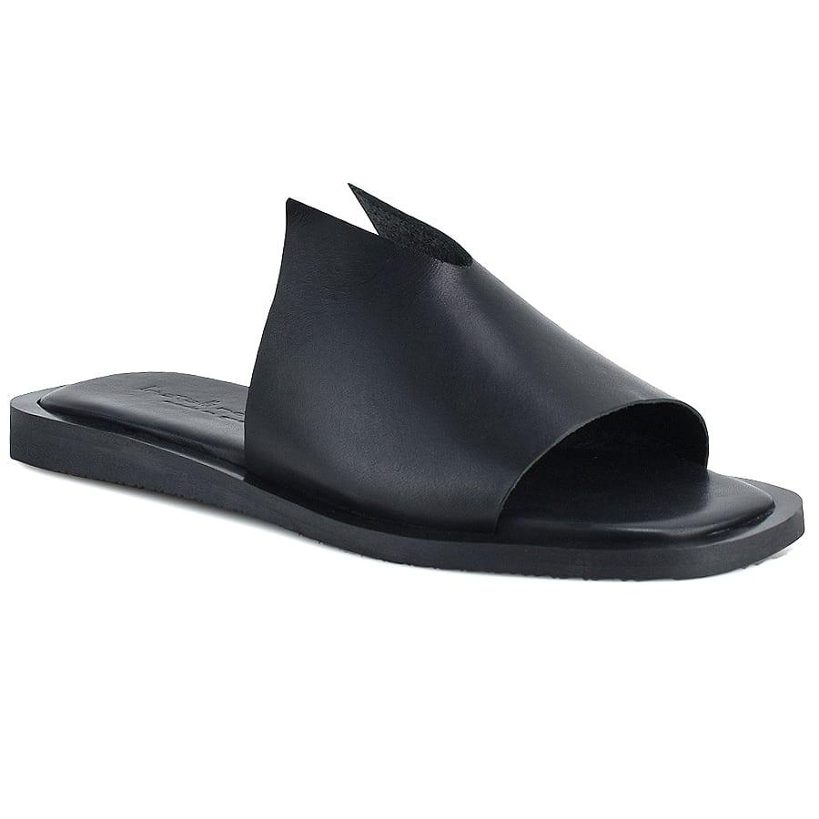 Δερμάτινo μαύρο σανδάλι Fratelli Robinson 5345