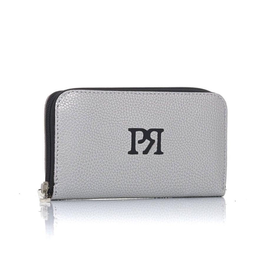 Ασημί eco-leather πορτοφόλι Pierro Accessories 00022