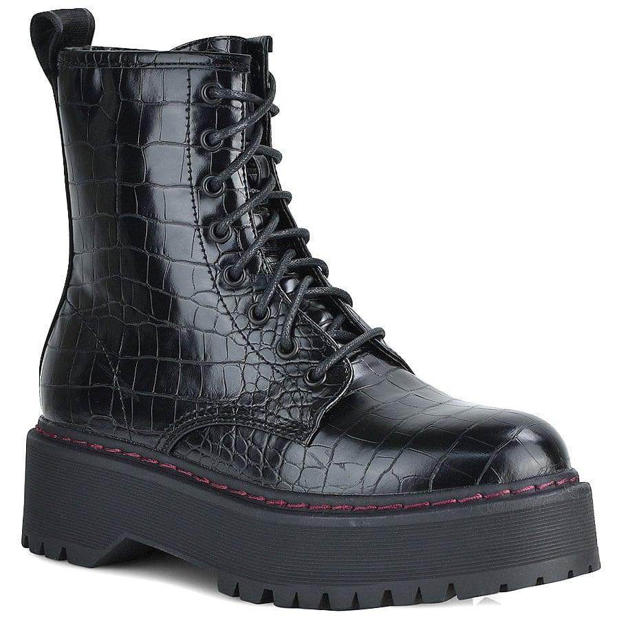 Μαύρο biker boot REPLAY AMITY
