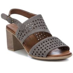 Grey leather high heel sandal Carmela 67121