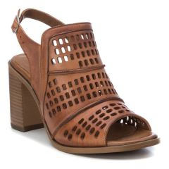 Tabac leather high heel sandal Carmela 67132
