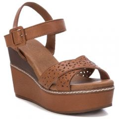 Tabac leather wedge Carmela 67243