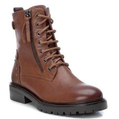 Leather tabac biker boot Carmela 67412