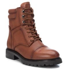 Leather tabac biker boot Carmela 67413