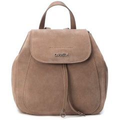 Leather taupe backpack Carmela 83300