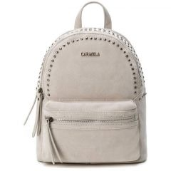 Leather beige backpack Carmela 83314