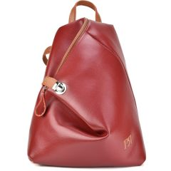 Bordeaux eco-leather backpack Pierro Accessories 09517