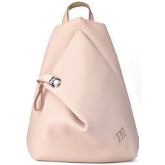 Nude eco-leather backpack Pierro Accessories 09517