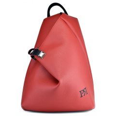 Red eco-leather backpack Pierro Accessories 09517