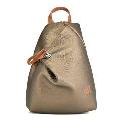 Μπρονζέ eco-leather σακίδιο πλάτης Pierro Accessories 09527