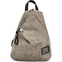 Grey backpack Pierro Accessories 09517