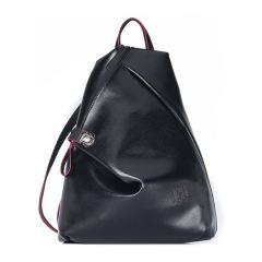 Black eco-leather backpack Pierro Accessories 09527