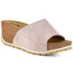 Leather nude comfort platform Walkme 101-003