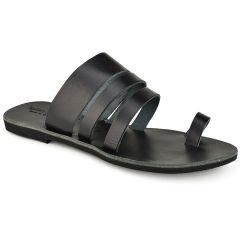 Leather black slipper Tsakiris Sandals TS1035
