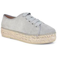 Leather grey espadrilles Viguera 1249