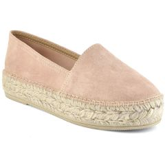 Leather pink espadrilles Viguera 1223