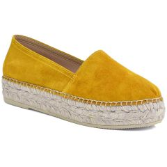 Leather yellow espadrilles Viguera 1223