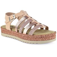 Leather nude comfort sandal Walkme 134-011