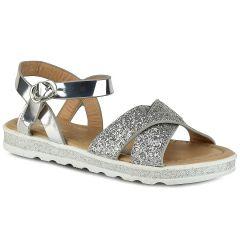 Silver junior sandal with glitter Doremi 139-8