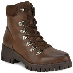 Brown hiking bootie 1424