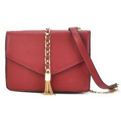 Κόκκινη τσάντα χιαστή 1540-729