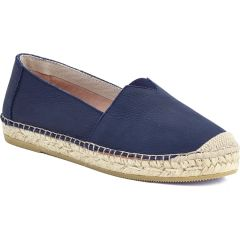 Leather blue espadrilles Viguera 1652
