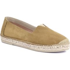 Leather camel espadrilles Viguera 1652