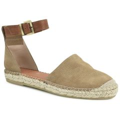 Leather tabac espadrilles Viguera 1658