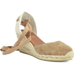 Leather camel espadrilles Viguera 1727