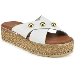 White leather flatform Dolce D187318