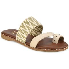 Leather green sandal Dolce E190505