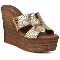 Gold leather platform Dolce E196312