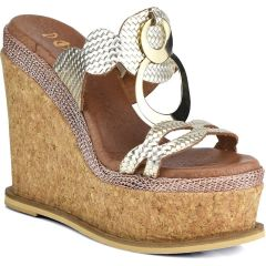 Gold leather platform Dolce 206351