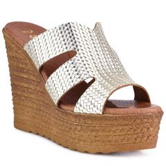 Gold leather platform Dolce 207037