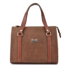 Leather brown handbag Dolce 2080122