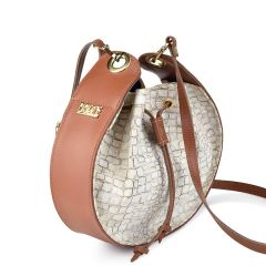 White croco pouch bag Dolce 208046