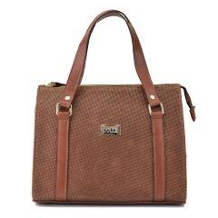 Δερμάτινη καφέ τσάντα χειρός Dolce 2080122