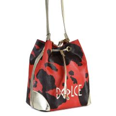 Red pouch bag Dolce 218027AG