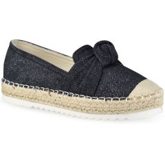 Black jeans espadrilles with glitter Sonnax 26769